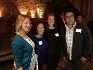 Olivia Rotondo with Sarah Blackwell of PRSSA, and Charles Smith who created the scholarship, and Smith's family.(Photo provided by Olivia Rotondo)
